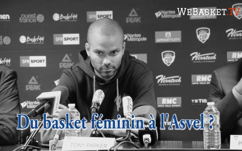 Tony Parker en conférence de presse évoque le basket féminin