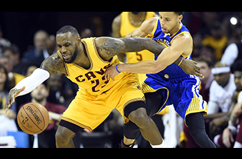 Stephen Curry et LeBron James