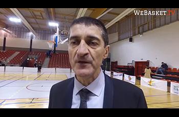 Le président de la Fédération Française de BasketBall Jean-Pierre Siutat à Aulnoye-Aymeries