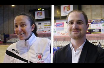 Anne-Sophie Pagnier et Quentin Buffard après Arras-Calais (72-63)