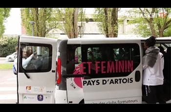 Départ des cadettes d'Arras Pays d'Artois Basket pour Paris Bercy AccorHotel Arena