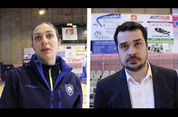 Sarra Planchenault et Kevin Brohan après Arras-Calais (72-63)