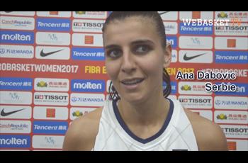 Ana Dabovic après Serbie-Grèce