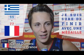 Celine Dumerc après la victoire en demi-finale