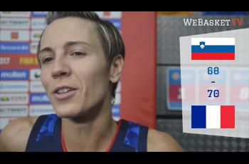 Céline Dumerc après Slovenie-France