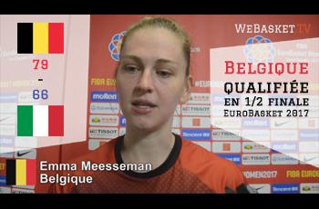 Emma Meeseman après Belgique-Italie