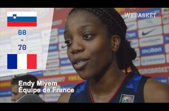 Endy Miyem après Slovenie-France