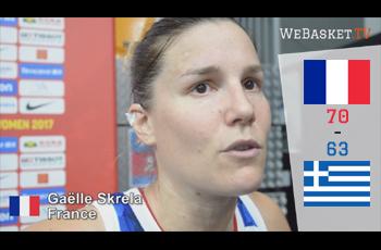 Gaëlle Skrela après France-Grèce