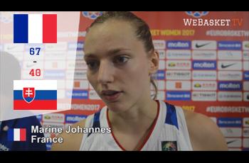 Marine Johannes après France-Slovaquie