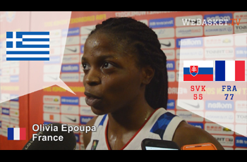 Olivia Epoupa après France-Slovaquie