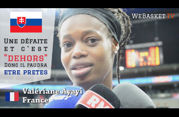 Valériane Ayayi avant France-Slovaquie