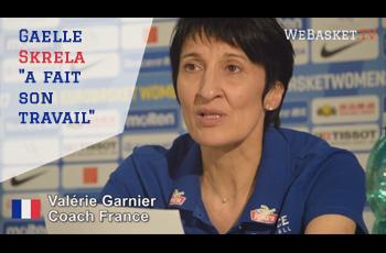 Valérie Garnier en conférence de presse parle du travail de Gaëlle Skrela