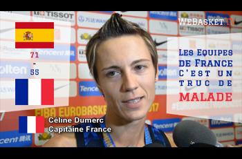 Celine-Dumerc après Espagne-France