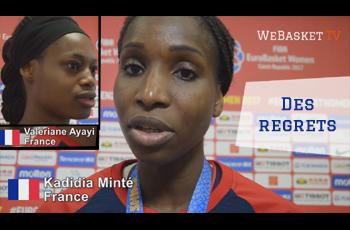 Valériane Ayayi et Kadidia Minté après Espagne-France