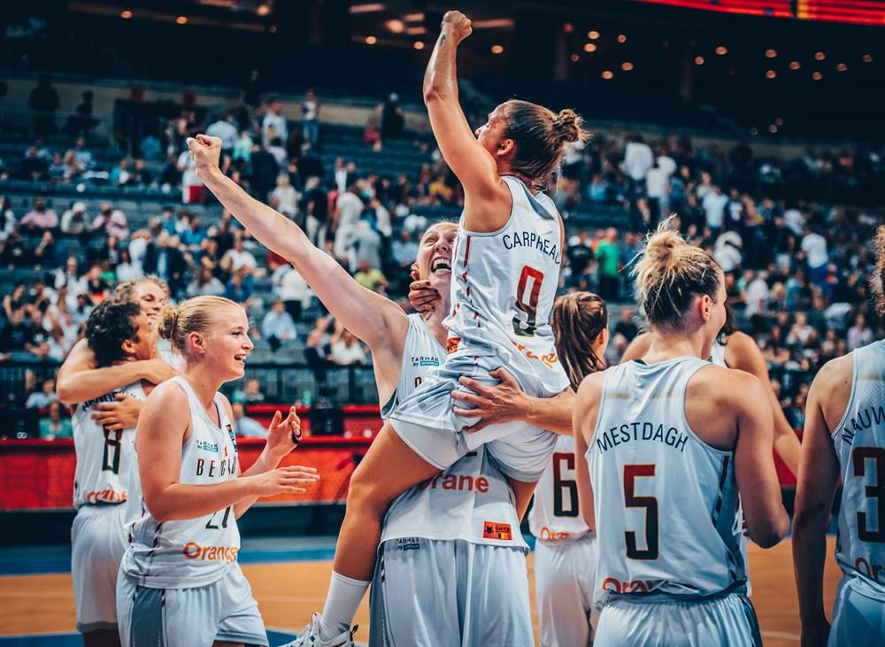 belgique medaillees de bronze a l'eurobasket feminin 2017