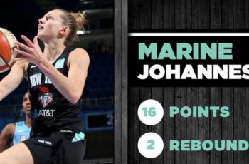 marine johannes realise un deuxieme perfect dans le match chicago sky - new york liberty