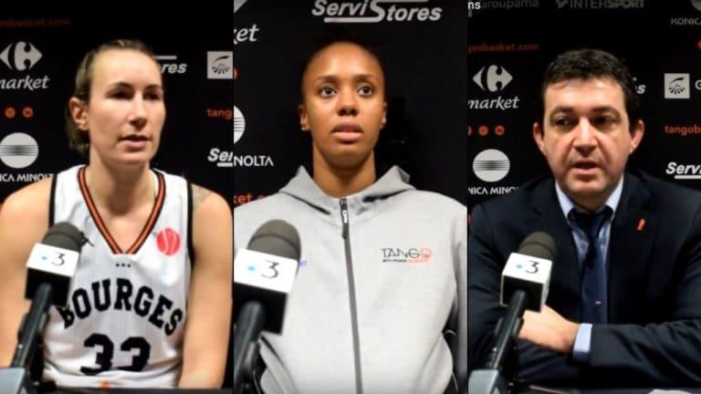 Elodie Godin, Iliana Rupert et Olivier Lafargue après Bourges-Riga