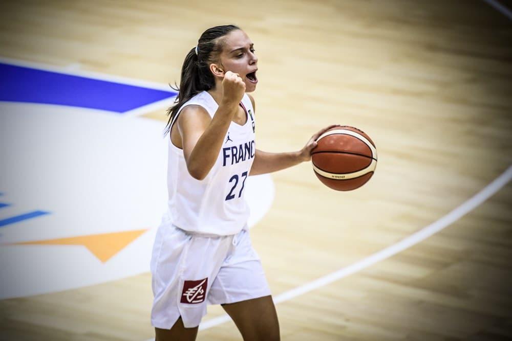 helene jokovljevic a l euro u20 2019 dans le match france-suede