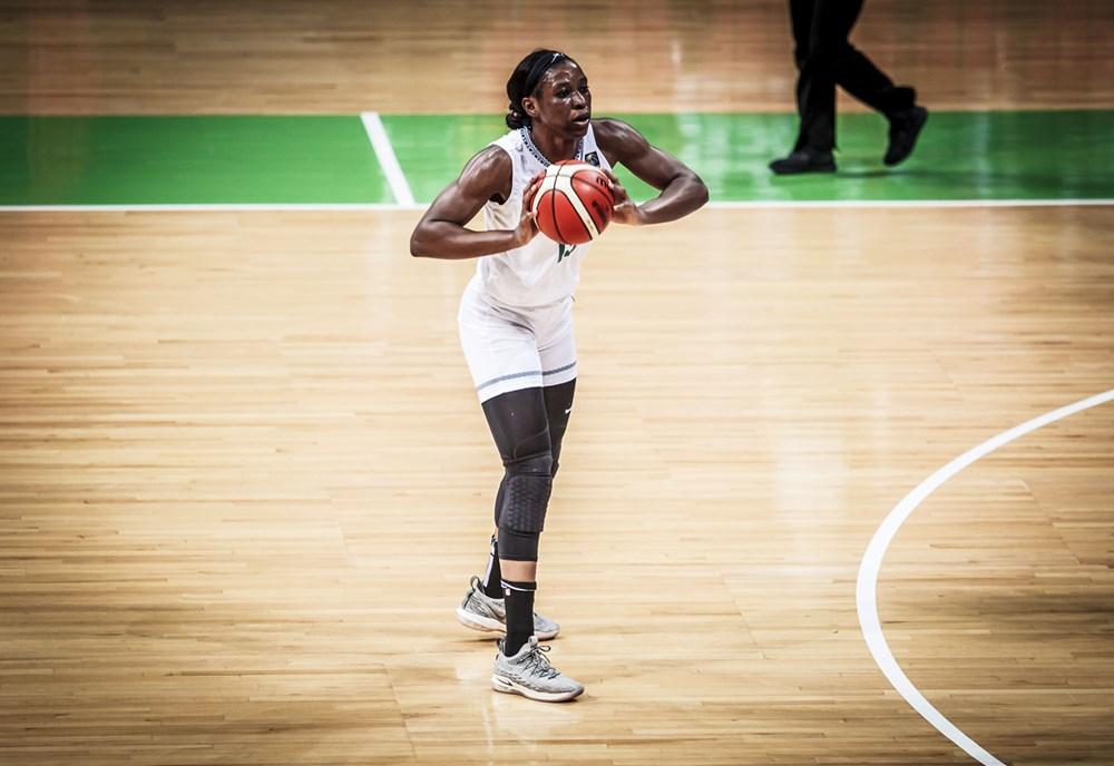 evelyn akhator a l'afrobasket 2019 dans le match nigeria vs rdc