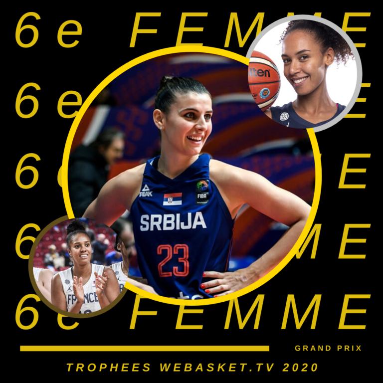 Ana Dabovic est la 6e femme de l'année 2020. Marième Badiane et Iliana Rupert complètent le podium