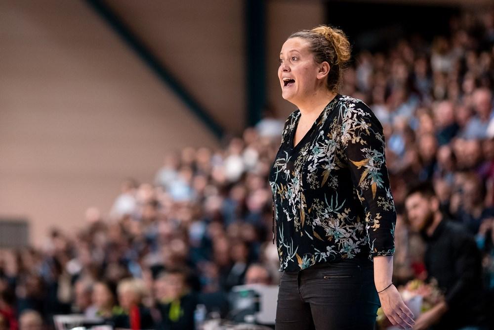 julie barennes lors du 1/8 de finale d'eurocoupe 2019-20 entre basket landes et ormanspor