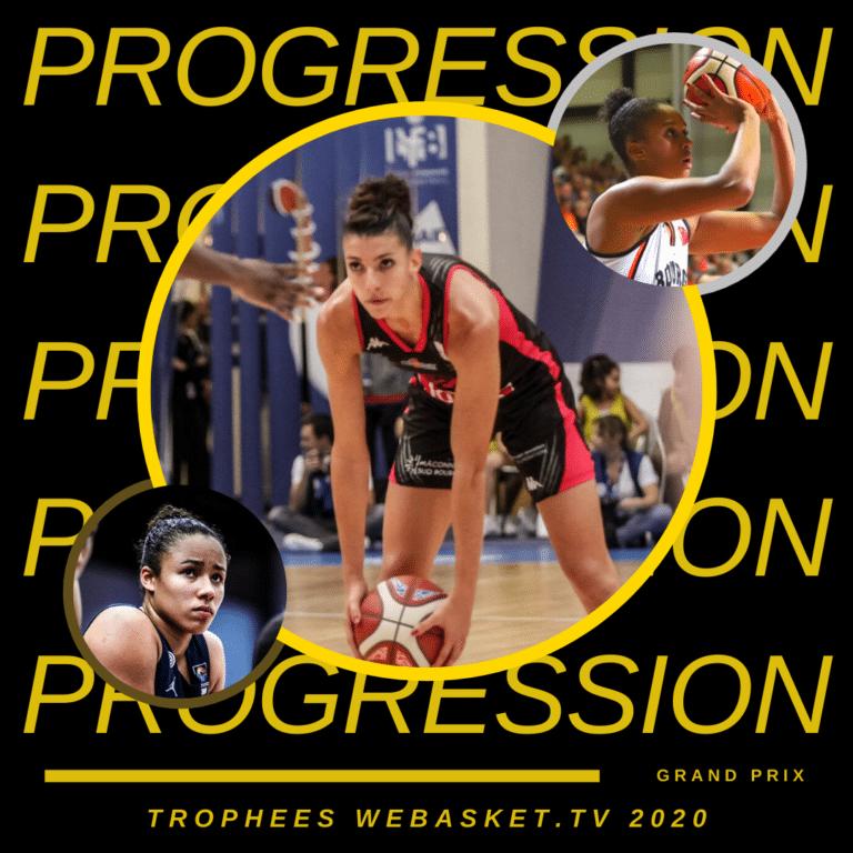 Laëtitia Guapo est élue MIP de la saison 2019-2020 de LFB. 2e Iliana Rupert, 3e Tima Pouye